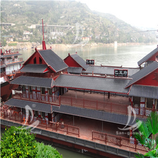 重庆三峡游轮景区仿古瓦项目