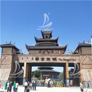 内蒙古蒙古王城仿古筒瓦项目