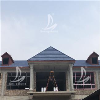 涿州某村二层楼金属瓦项目