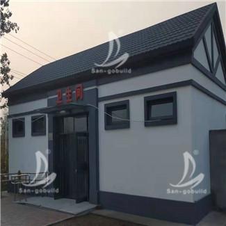天津杨柳青厕所屋面金属瓦项目